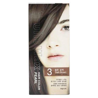 Краска для волос на фруктовой основе Welcos Fruits Wax Pearl Hair Color (03 Темно-коричневый), 120мл