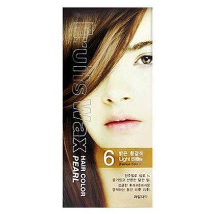 Краска для волос на фруктовой основе Welcos Fruits Wax Pearl Hair Color (06 Светлый блонд), 120мл