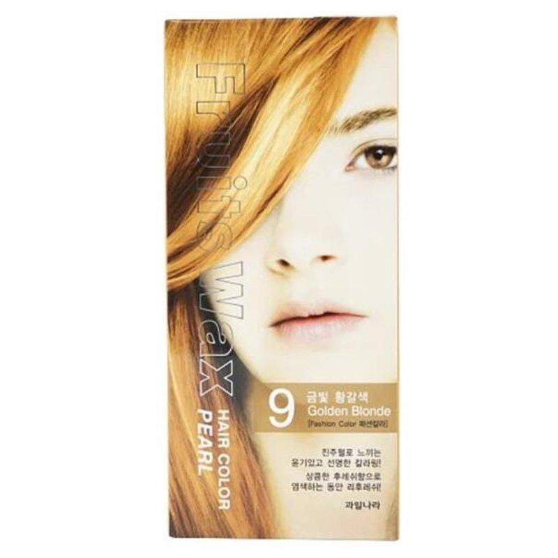 Краска для волос на фруктовой основе Welcos Fruits Wax Pearl Hair Color (09 Пшенично-русый), 120мл