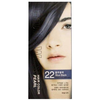 Краска для волос на фруктовой основе Welcos Fruits Wax Pearl Hair Color (22 Сине-черный), 120мл