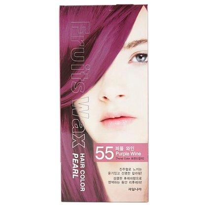 Краска для волос на фруктовой основе Welcos Fruits Wax Pearl Hair Color (55 Винный), 120мл