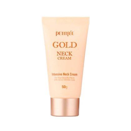 Крем для шеи антивозрастной с золотом Petitfee Gold Neck Cream, 50г