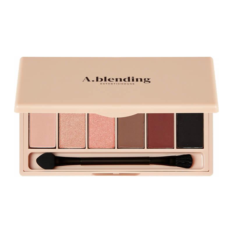 Тени для век ESTHETIC HOUSE A.blending Pro Eyeshadow Palette (Nude Glow), 2г*6шт