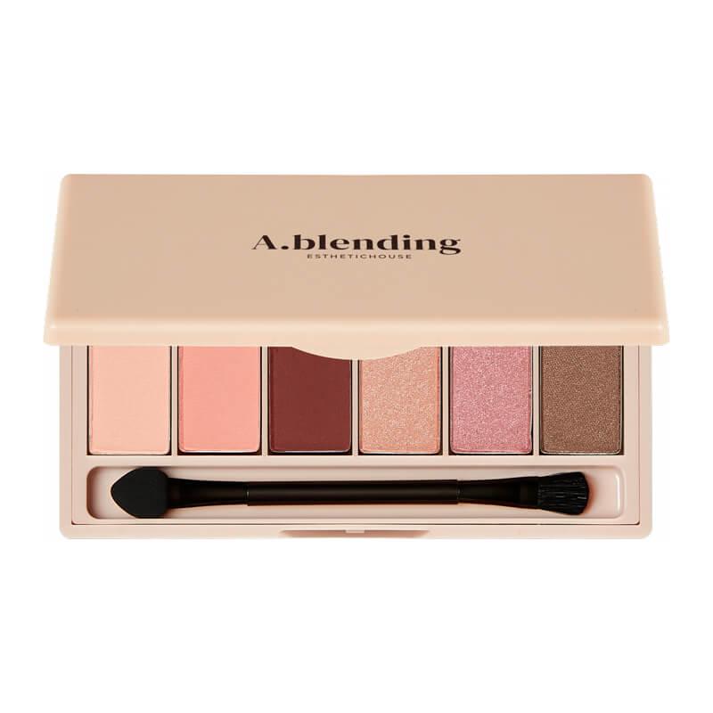 Тени для век ESTHETIC HOUSE A.blending Pro Eyeshadow Palette (Nude Beach), 2г*6шт