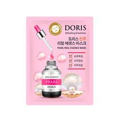 Тканевая маска для лица с экстрактом жемчуга Doris Pearl Real Essence Mask Doris, 25мл
