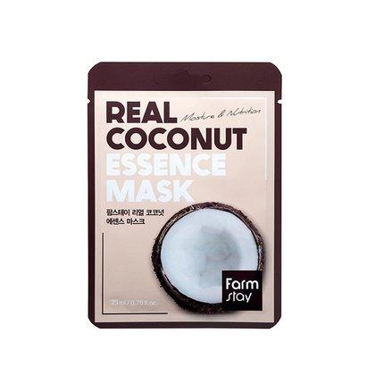 Маска тканевая для лица питательная с экстрактом кокоса Farmstay Real Coconut Essence Mask Sheet, 23мл