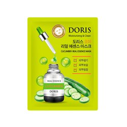 Тканевая маска для лица с экстрактом огурца Doris Cucumber Real Essence Mask, 25мл