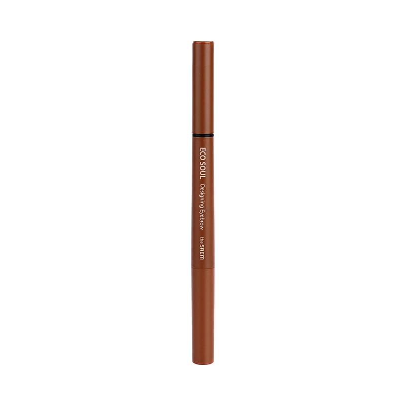 Карандаш для бровей 3 в 1 The Saem Eco Soul Designing Eyebrow 01 Brown 0,2 г.*0,12 г.