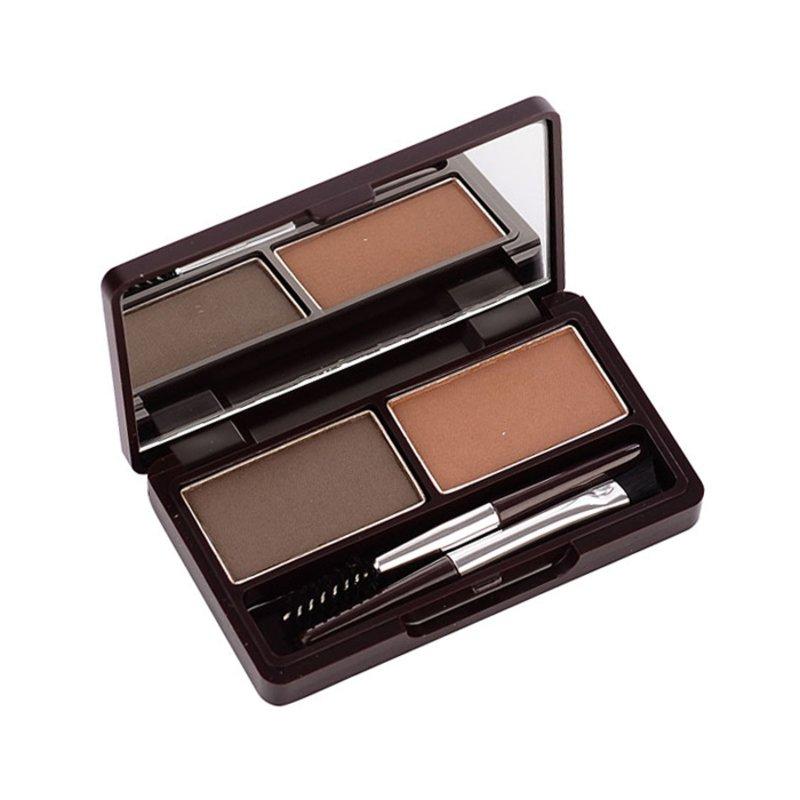 Пудра для бровей The Saem Eco Soul Eyebrow Kit 02 Gray Brown, 2*2 2*2,5 г