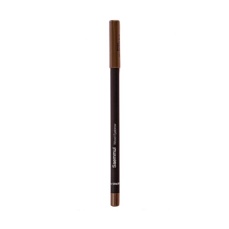 Карандаш для бровей The Saem Saemmul Wood Eyebrow 03 Black brown, 0,2г