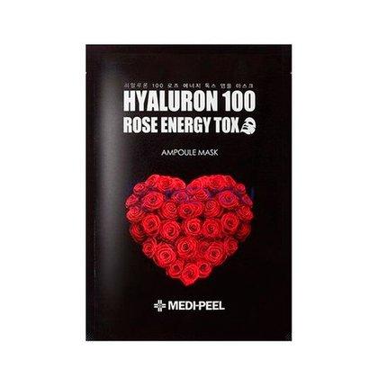 Тканевая маска омолаживающая с розой MEDI-PEEL Hyaluron 100 Rose Energy Tox, 30мл