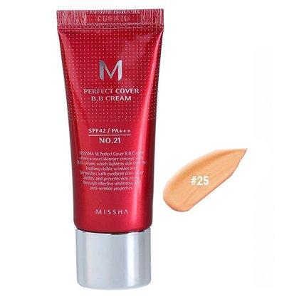 BB-крем с максимальной кроющей способностью #25 Missha M Perfect Cover BB Cream #25 Natural Beige SPF42 PA+++, 20мл