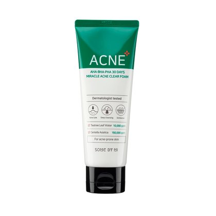 Очищающая пенка для проблемной кожи Some By Mi AHA-BHA-PHA 30 Days Miracle Acne Clear Foam, 100мл