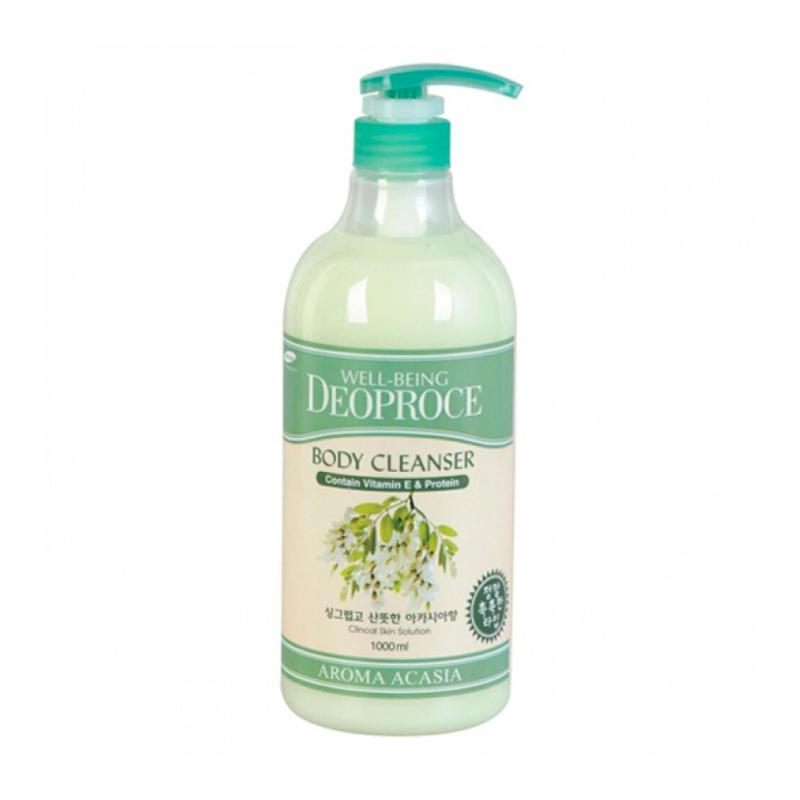 Гель для душа с экстрактом акации Deoproce Well-Being Aroma Body Cleanser, 1000мл