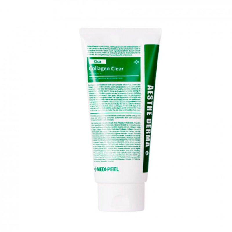 Пенка успокаивающая с центеллой и коллагеном MEDI-PEEL Green Cica Collagen Clear, 300мл