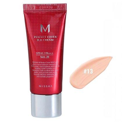 BB-крем с максимальной кроющей способностью #13 MISSHA M Perfect Cover BB Cream #13 Bright Beige SPF42 PA+++, 20мл