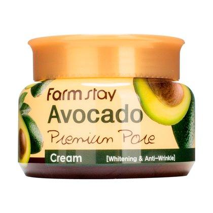 Отбеливающий лифтинг-крем для лица с маслом косточек авокадо Farmstay Avocado Premium Pore Cream, 100мл