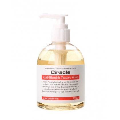 Гель-мыло для лица с чайным деревом Ciracle Anti Blemish Teatree Wash, 250мл