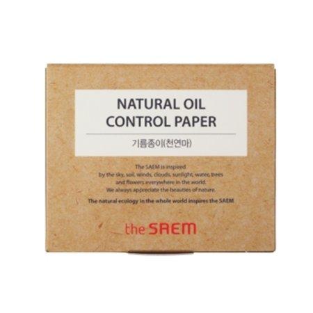 Матирующие салфетки The Saem Natural Oil-Control Paper, 50шт.
