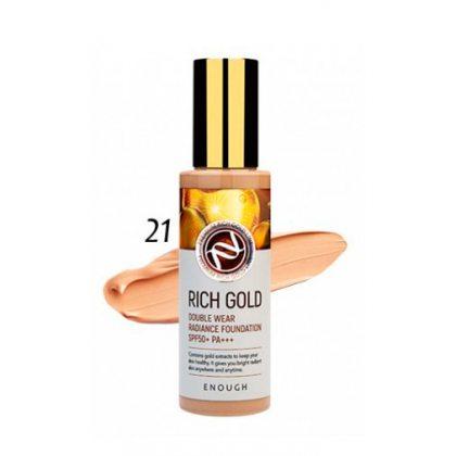 Тональный крем с частичками золота #21 Enough Rich Gold SPF50+, 100мл