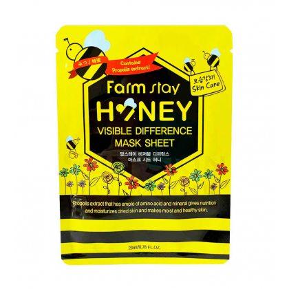 Маска тканевая с прополисом FarmStay Mask Honey, 23мл