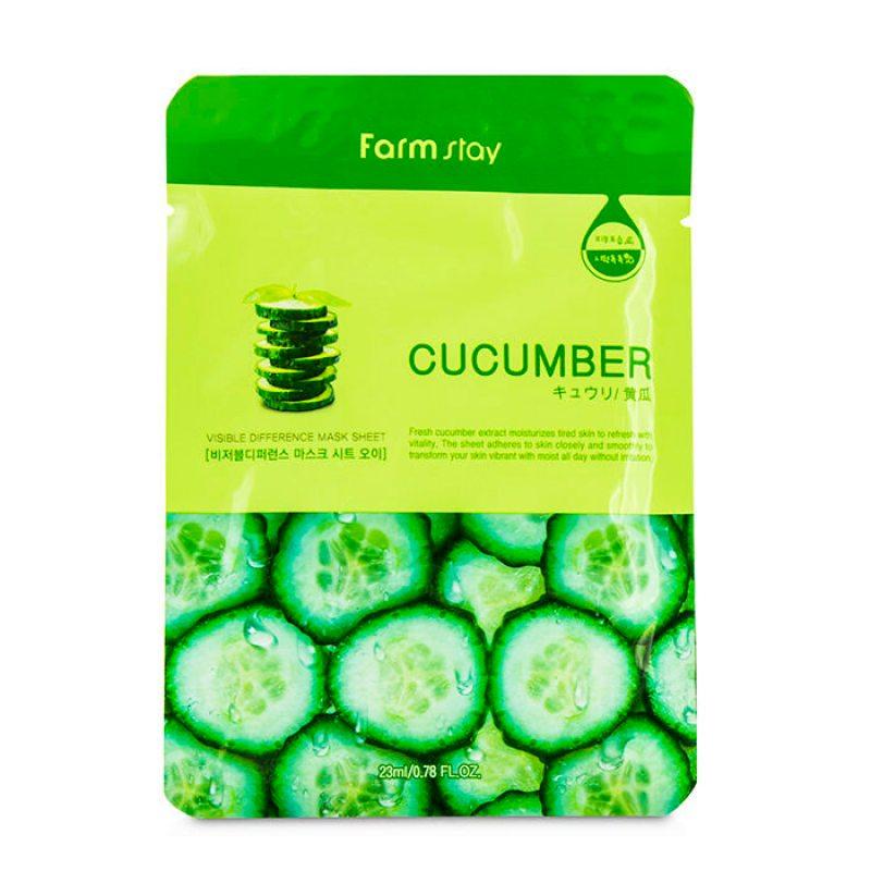 Маска тканевая для лица с экстрактом огурца FarmStay Mask Cucumber, 23мл