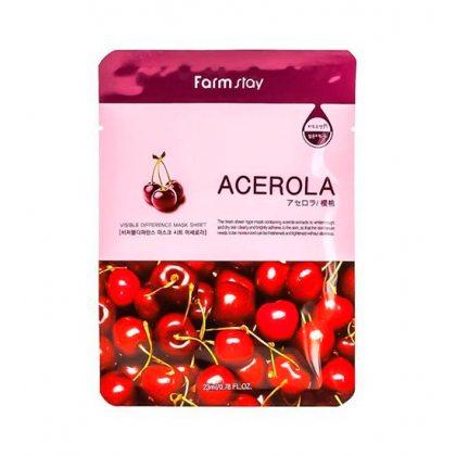 Маска тканевая для лица с экстрактом ацеролы FarmStay Mask Acerola, 23мл