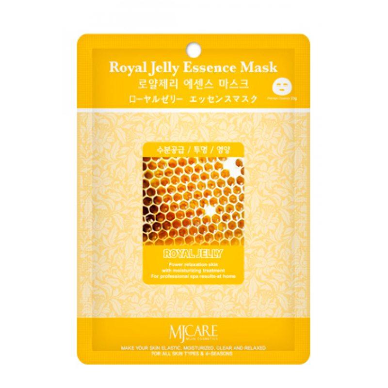 Маска тканевая с маточным молочком Mijin Essence Mask Royal Jelly, 23мл