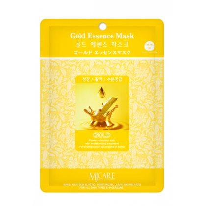 Маска тканевая с частицами золота Mijin Essence Mask Gold, 23мл