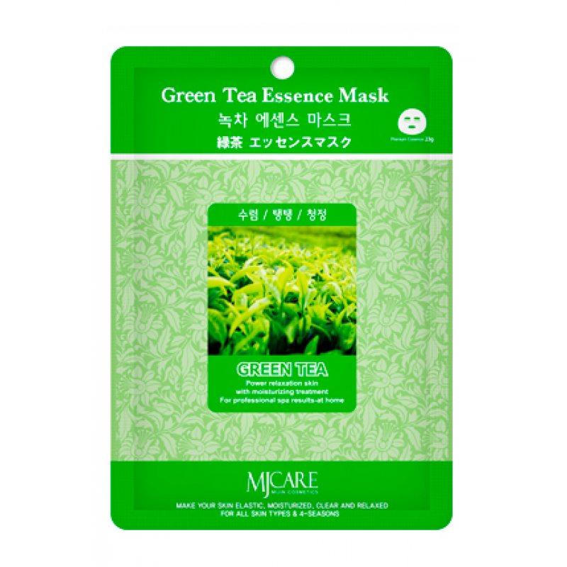 Маска тканевая с зелёным чаем Mijin Essence Mask Greentea, 23мл