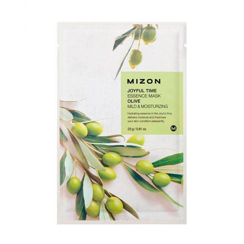 Маска тканевая с экстрактом оливы Mizon Joyful Time Essence Mask Olive, 23мл