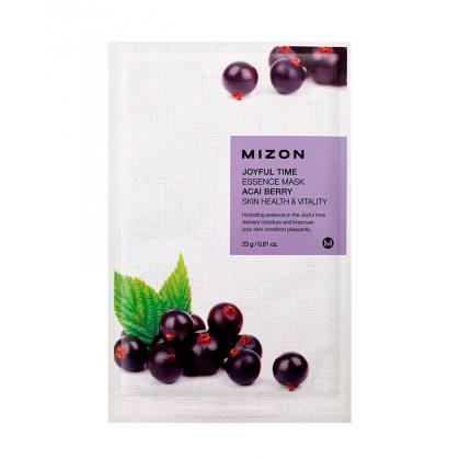 Маска тканевая с экстрактом ягод асаи Mizon Joyful Time Essence Mask Acai Berry, 23мл