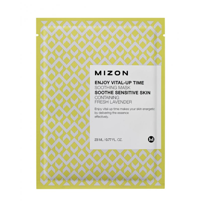Маска тканевая для лица с лавандой Mizon Enjoy Vital-Up Time Mask Soothing Sensitive Skin Fresh Lavender, 25мл