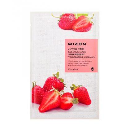 Маска тканевая с экстрактом клубники Mizon Joyful Time Essence Mask Strawberry, 23мл