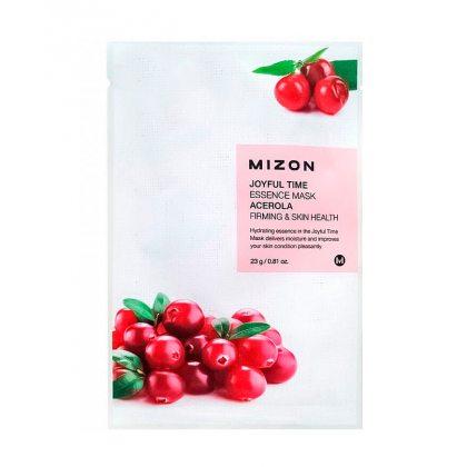 Маска тканевая с экстрактом барбадосской вишни Mizon Joyful Time Essence Mask Acerola, 23мл