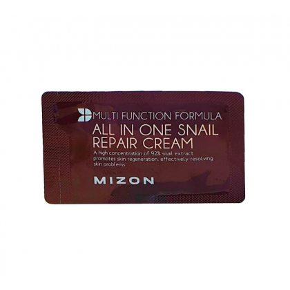 Крем для лица с 92% муцином улитки MIZON All In One Snail Repair Cream, 2мл