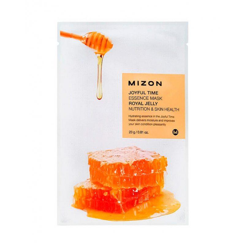 Маска тканевая с экстрактом маточного молочка Mizon Joyful Time Essence Mask Royal Jelly, 23мл