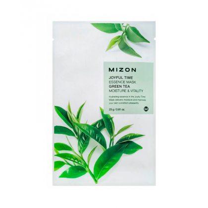 Маска тканевая с экстрактом зелёного чая Mizon Joyful Time Essence Mask Green Tea, 23мл