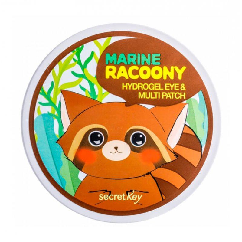 Патчи для глаз с морским комплексом Secret Key Marin Racoony Hydrogel Eye & Multi Patch, 90шт
