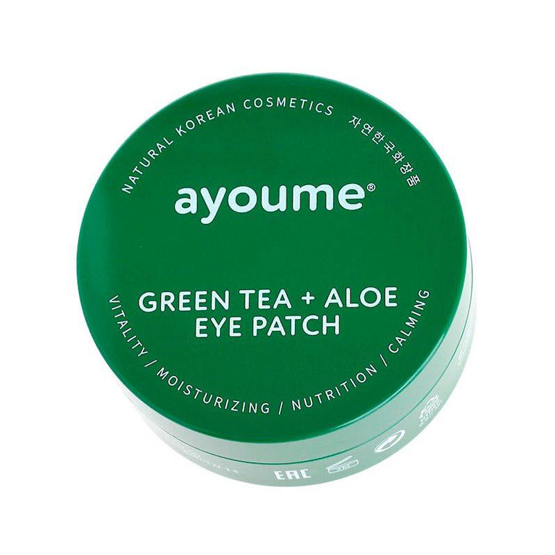 Патчи для глаз с экстрактом зеленого чая и алое Ayoume Green Tea + Aloe Eye Patch, 60шт