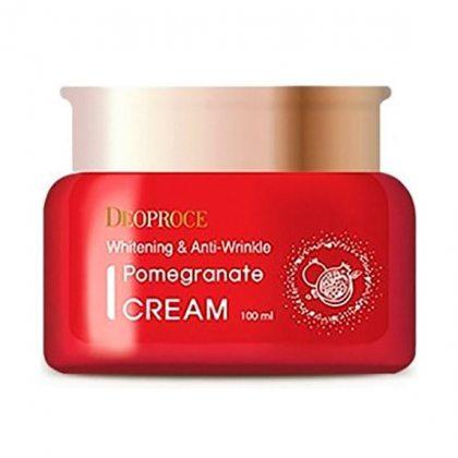 Крем для лица антивозрастной Deoproce Whitening And Anti-Wrinkle Pomegranate Cream, 100мл