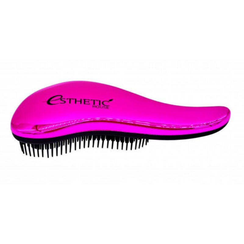 Расческа для волос розовая Esthetic House Hair Brush For Easy Comb Pink