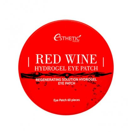 Гидрогелевые патчи для глаз с красным вином Esthetic House Red Wine Hydrogel Eyepatch, 60шт