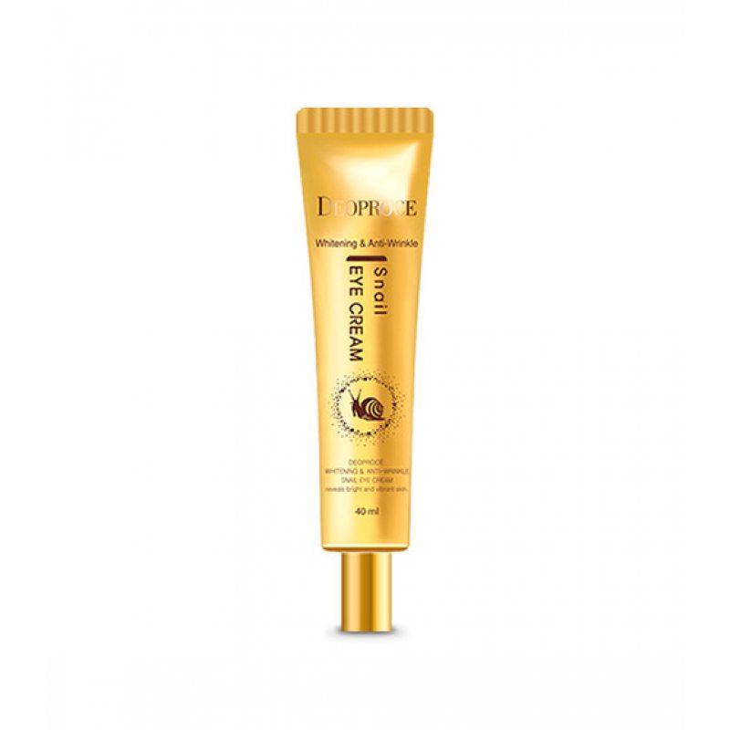 Крем для кожи вокруг глаз с экстрактом улитки Deoproce Whitening And Anti-Wrinkle Snail Eye Cream, 40мл