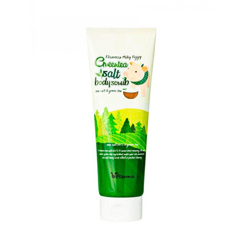 Скраб для тела с экстрактом зеленого чая Elizavecca Greentea Salt Body Scrub 300г