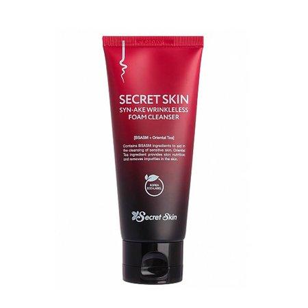 Пенка для умывания антивозрастная Secret Skin Syn-Ake Wrinkleless Foam Cleanser, 100мл