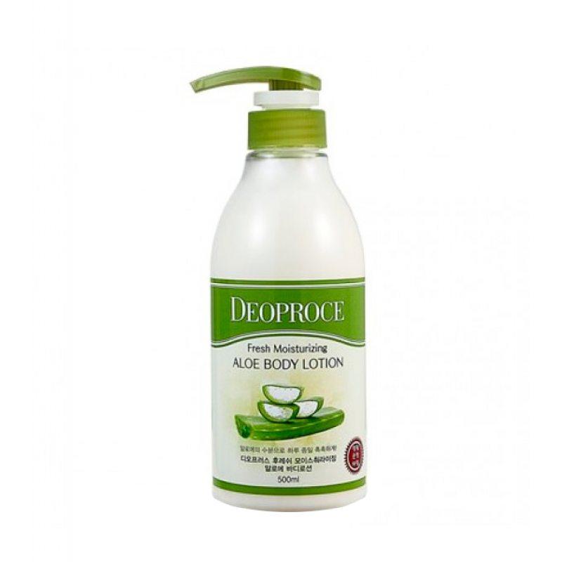 Лосьон для тела с экстрактом алоэ Deoproce Well-Being Fresh Moisturizing Aloe Body Lotion, 500мл