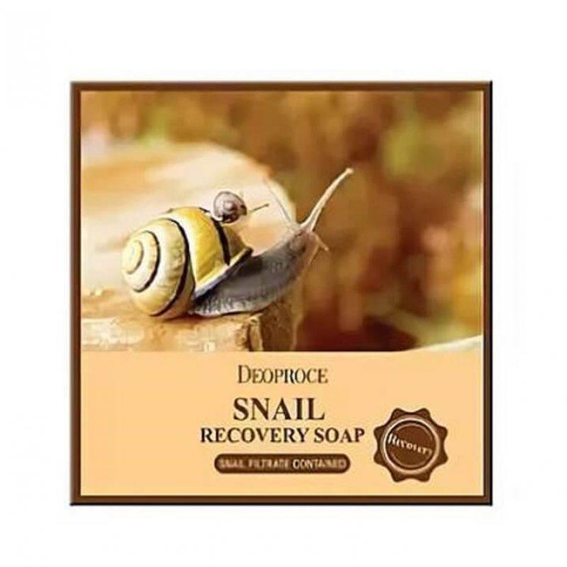 Мыло с экстрактом улитки Deoproce Snail Soap, 100г