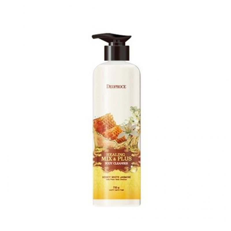Гель для душа с жасмином и мёдом Deoproce Healing Mix Plus Body Cleanser Honey White Jasmine, 750г