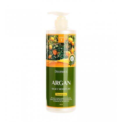 Шампунь для волос с аргановым маслом Deoproce Argan Silky Moisture Shampoo, 1000мл